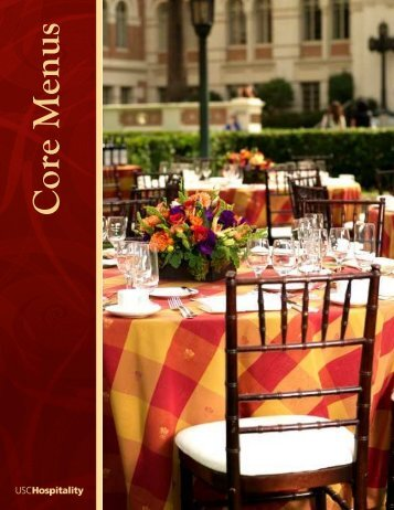 Lunch - USC Hospitality - University of Southern California