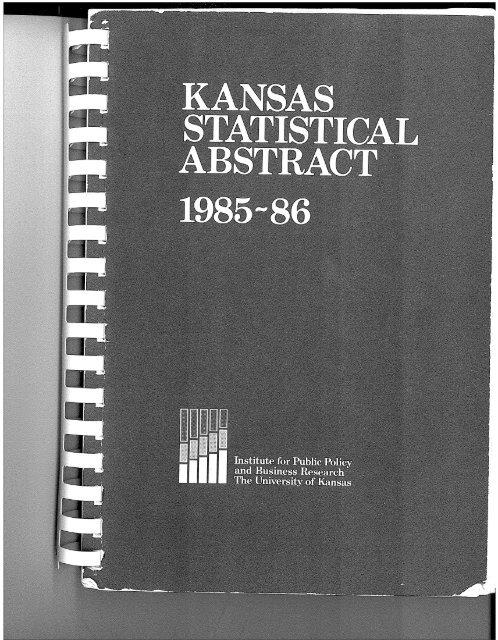 Kansas Statistical Abstract 1985-86 (21st Edition - 19.8M PDF)
