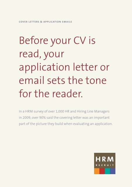 Cover Letter Communication