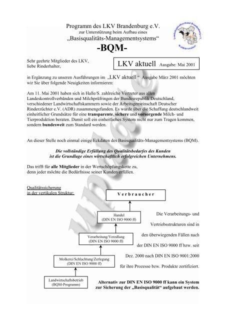 Straße zum Roten Luch 1 - Landeskontrollverband Brandenburg eV