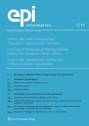 epi-Information 1/2011