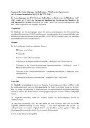 Reglement der Hochschulgruppe des akademischen ... - ETH Zürich