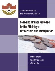 Year-end Grants Provided by the Ministry of Citizenship and ...