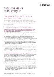 changement climatique - Rapport de Développement Durable 2009 ...