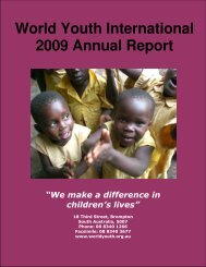 World Youth International 2009 Annual Report