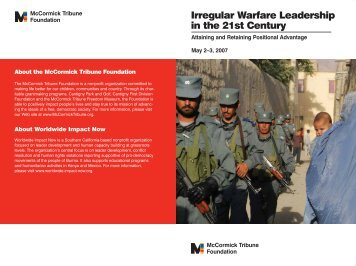 Irregular Warfare Leadership in the 21st Century