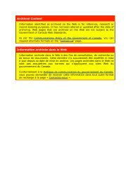 Archived Content Information archivée dans le Web - Collège des ...