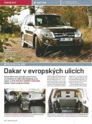 Mitsubishi Pajero: Dakar v evropských ulicích - M Motors CZ, s.r.o.