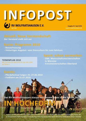 IN HOCHFORM - Reiterverein Wolfratshausen e.V.
