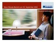 Neun-Monats-Bericht zum 30. September 2004 ... - Pfleiderer AG