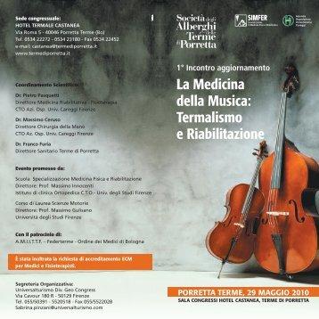 La Medicina della Musica - Azienda Ospedaliero-Universitaria ...