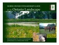 Horse Owner Stewardship Guide - Credit Valley Conservation