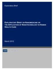 Nanotechnology-March 2012.pdf - Institute of Health Economics