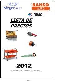 BAHCO ENERO 2012 nueva - Meyer SACIF