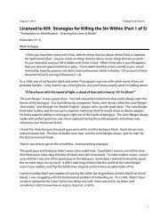 Licensed to Kill: Strategies for Killing the Sin Within (Part 1 of 5)