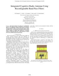 Integrated Cognitive Radio Antenna Using ... - Cosmiacpubs.org