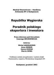 Republika WÄ™gierska Poradnik polskiego eksportera i ... - Szu.pl