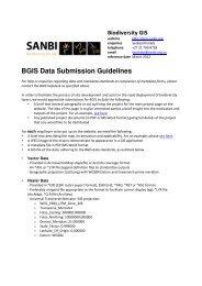 Read more - Biodiversity GIS - SANBI