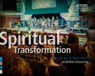spiritual formation guide (pdf) - College of Arts & Sciences - Bethel ...