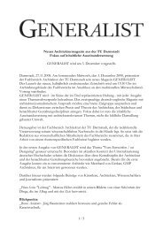 Pressemitteilung Launch GENERALIST 03.12.2008 - Technische ...
