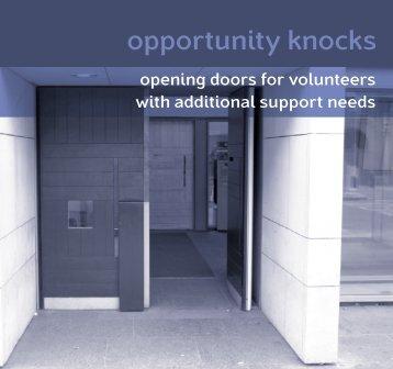 Opportunity knocks: opening doors for volunteers ... - Volunteering WA