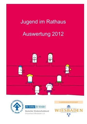 Jugend im Rathaus Auswertung 2012 - Deutsche Kinderschutzbund ...