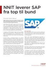 NNIT leverer SAP fra top til bund