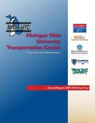 Michigan Ohio University Transportation Center - MIOH-UTC ...