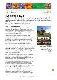 Nye bøker i 2012 - Hageselskapet
