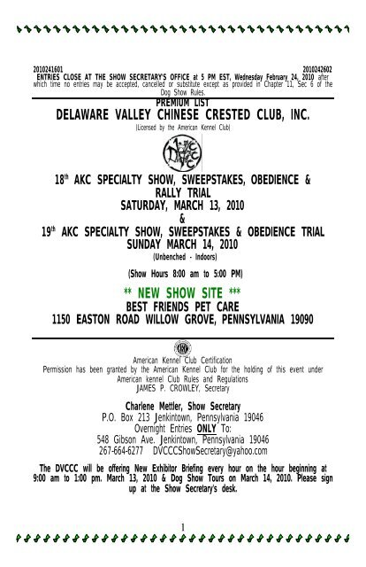 Delaware Valley Chinese Crested Club