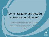 """""""Como asegurar una gestión exitosa de las Mipymes"""""""