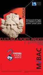 soprintendenza per i beni archeologici della puglia - Ufficio Studi ...