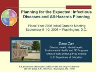 Planning for the Expected: Infectious Diseases and All-Hazards ...