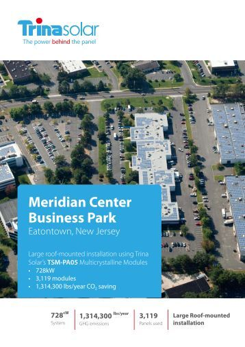 Meridian Center Business Park, New Jersey 728 kW - Trina Solar