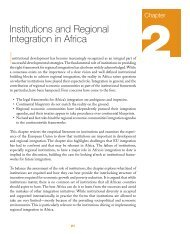 Chapter 2: Institutions and Regional Integration in Africa - MCLI