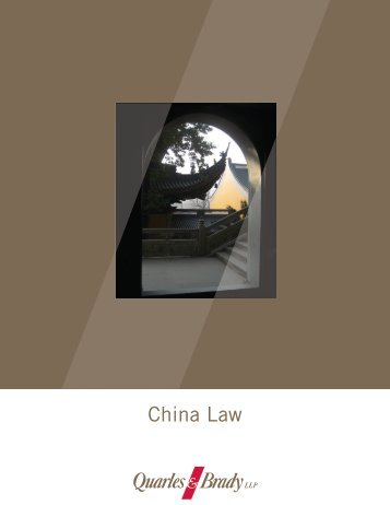 China Law - Quarles & Brady LLP