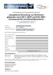 """""""Energetische Bewertung von Nichtwohn- gebäuden nach DIN V ..."""