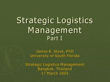Strategic Logistics Management - TNSC