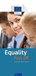 Equality Pays Off Leaflet (470 Kb) - European Commission - Europa