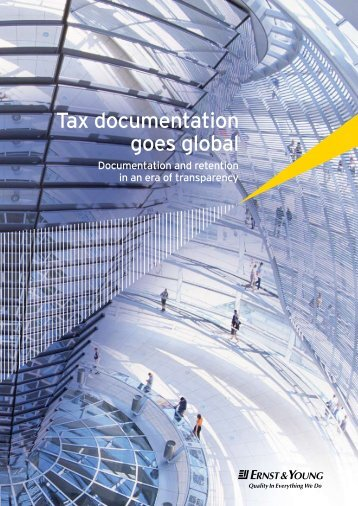 Tax documentation goes global