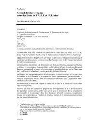 Accord de libre-échange entre les Etats de l'Aele et l'Ukraine2