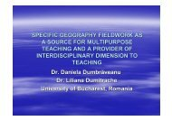 Specific geography fieldwork as a source for multipurpose teaching ...