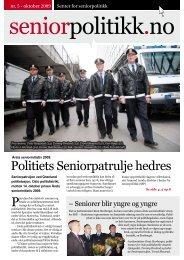 Politiets Seniorpatrulje hedres - Senter for seniorpolitikk