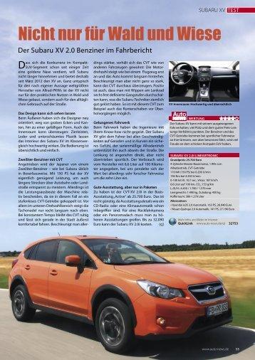 Testbericht Subaru XV 2.0i - AutoNEWS Nr. 9