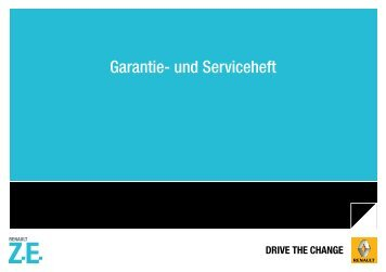 Z.E. Garantieheft - Renault