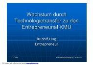 Wachstum durch Technologietransfer zu den ... - Rudolf Hug