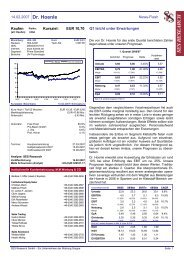 14.02.2007 Dr. Hoenle News-Flash EUR 10,70 Q1 ... - Dr. Hönle AG
