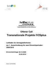 Transnationale Projekte Iv2splus