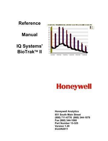 Reference Manual IQ Systems' BioTrak™ II - Honeywell Safety