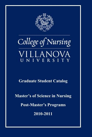 College of Nursing Graduate Catalog - Villanova University